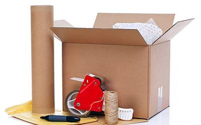 Verpackungsmaterialien für den Umzug